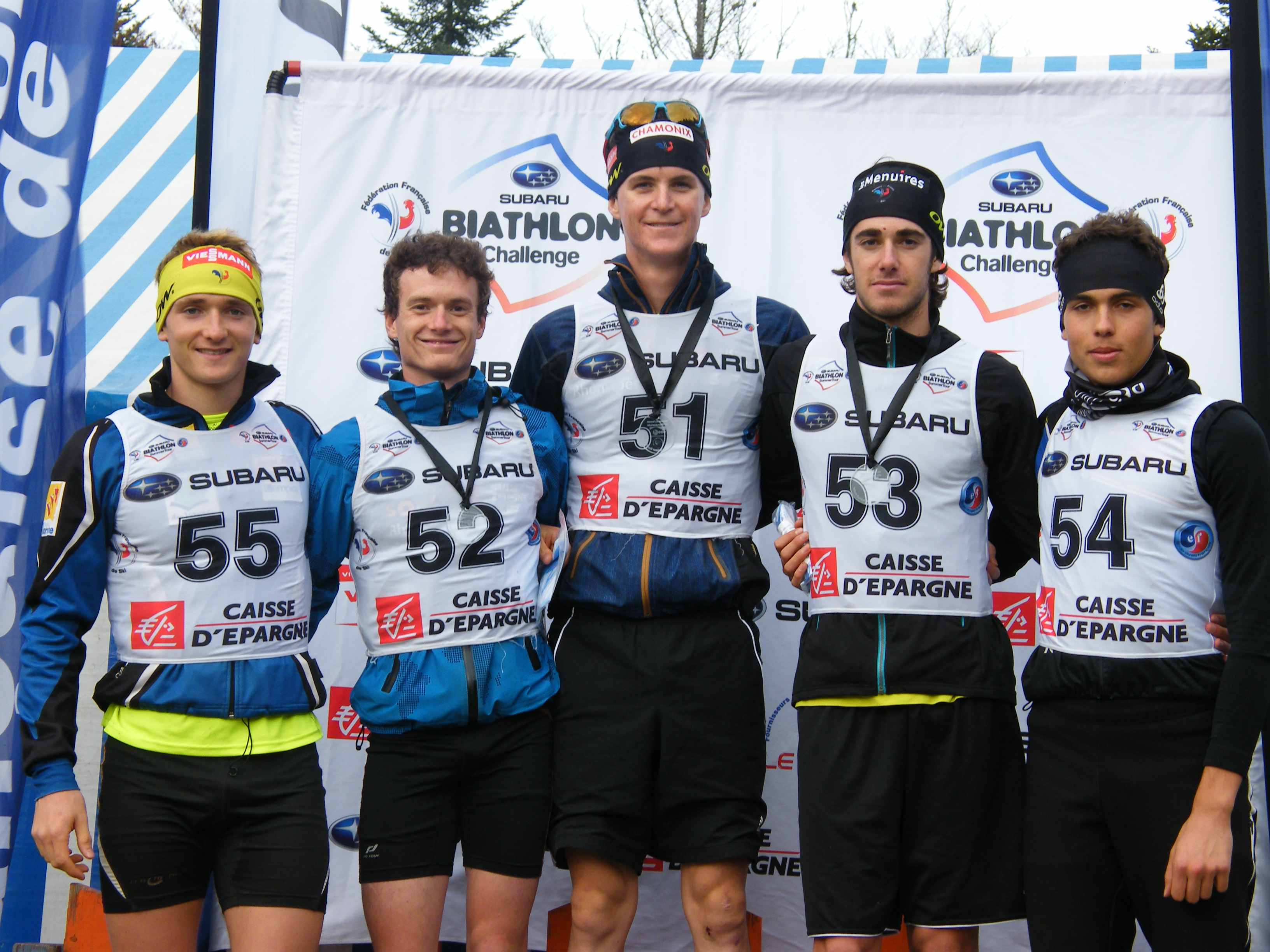 Le podium juniors hommes
