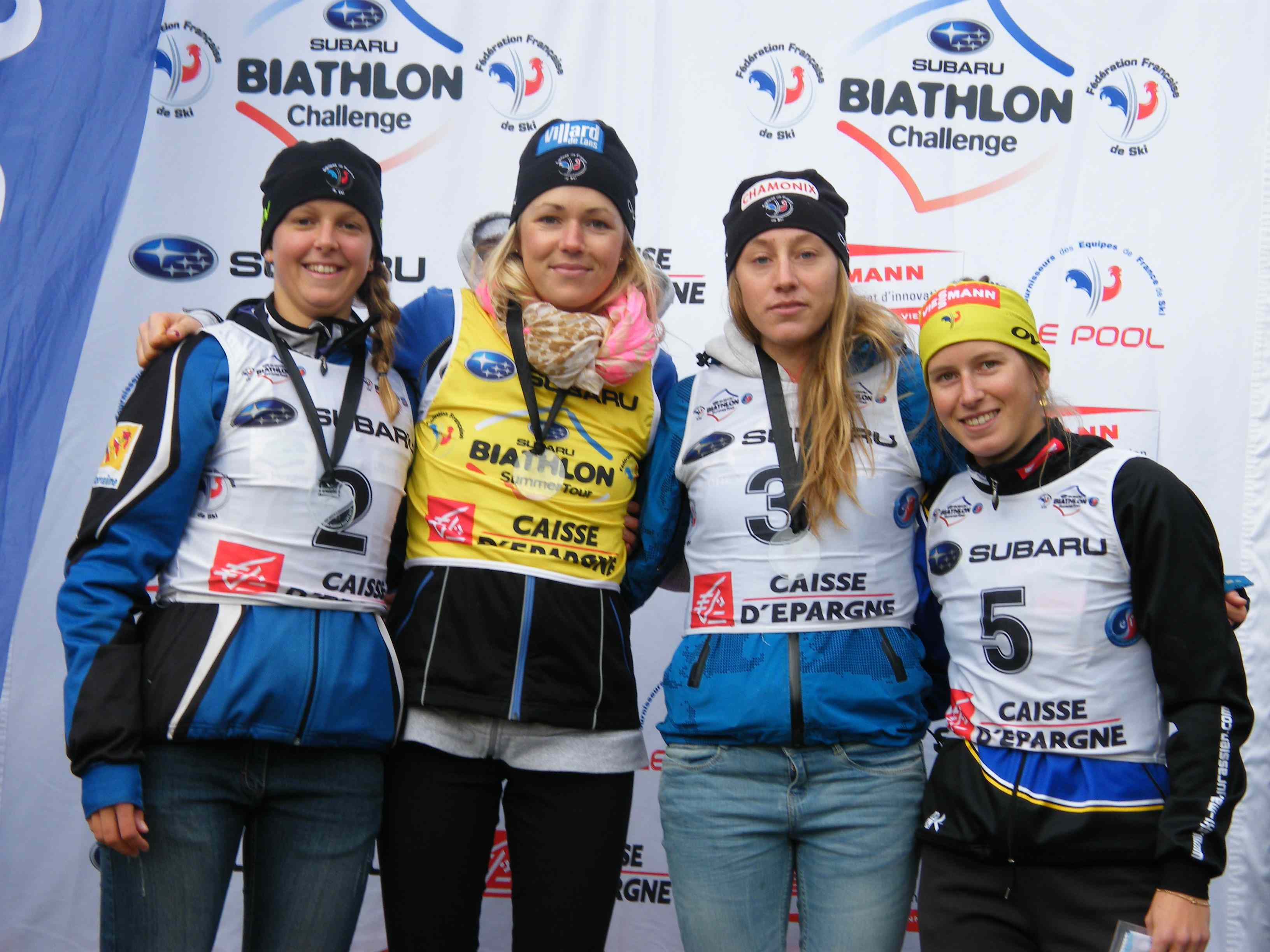 Le podium senior dames