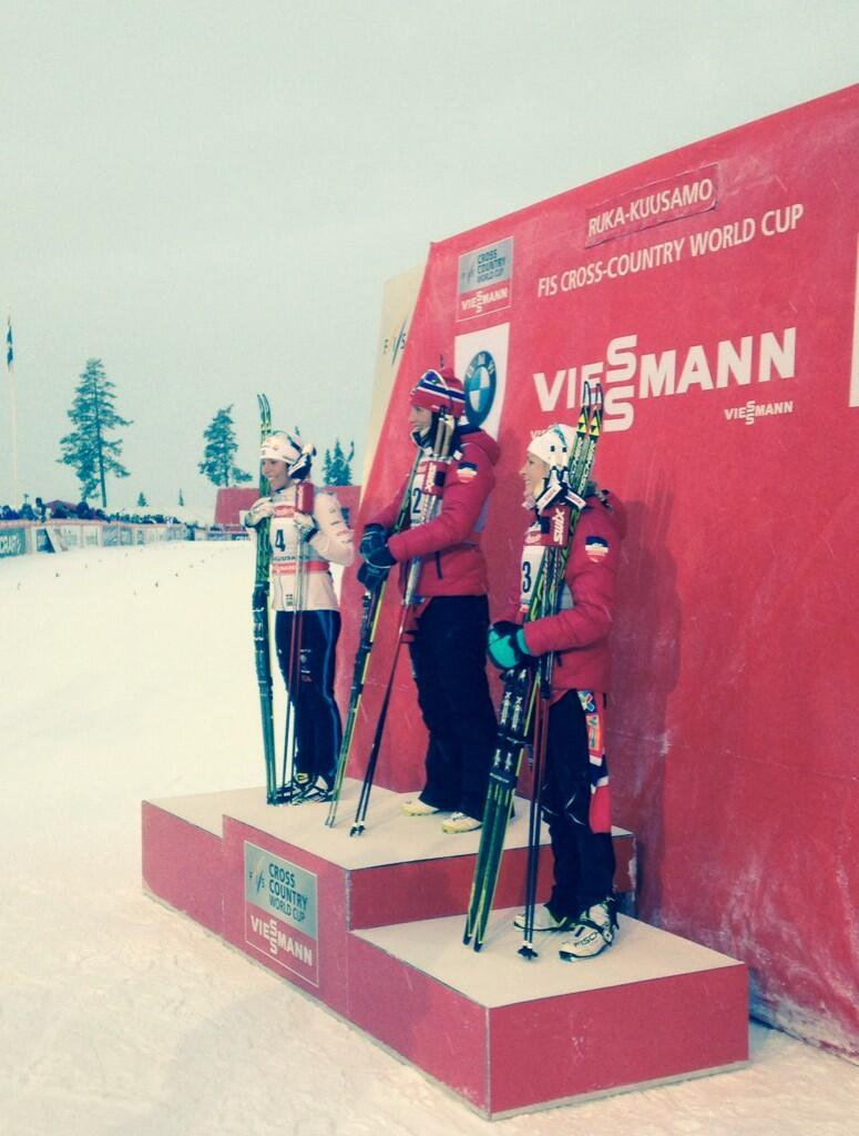 Le podium du Ruka Triple (Photo : FIS)