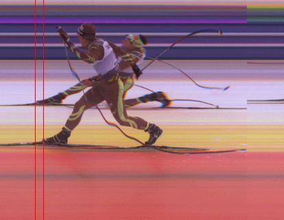 La photo finish aver Damien Tarantola et Adrien Backscheider.