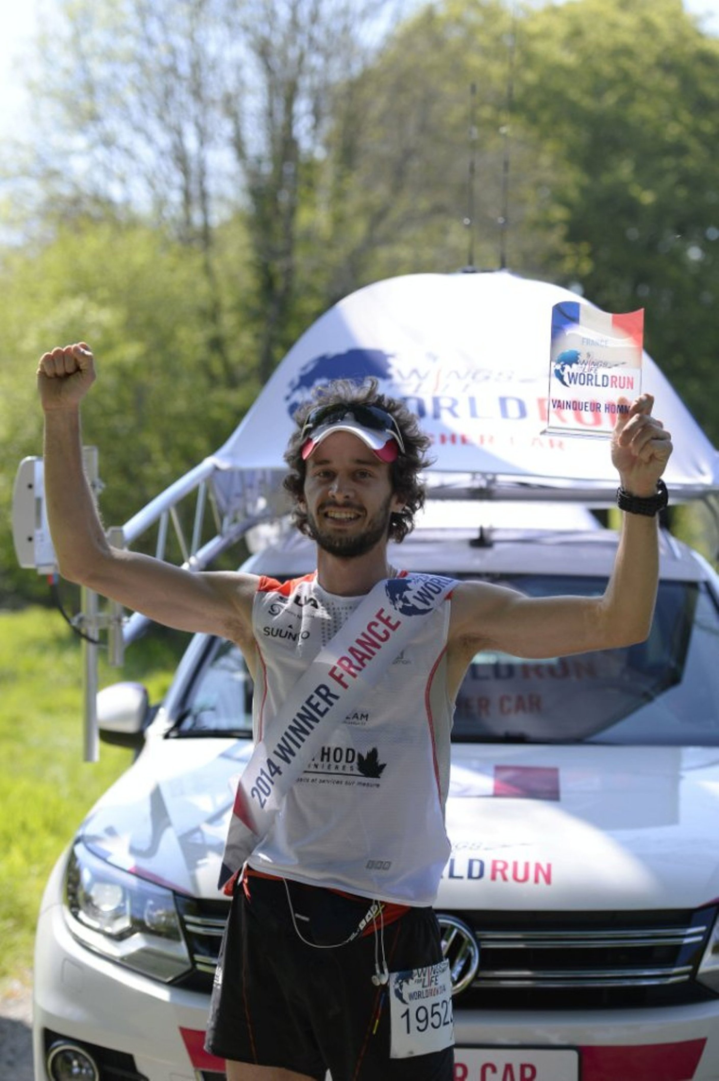 Thibaut Baronian, vainqueur de Wings for Life World Run.