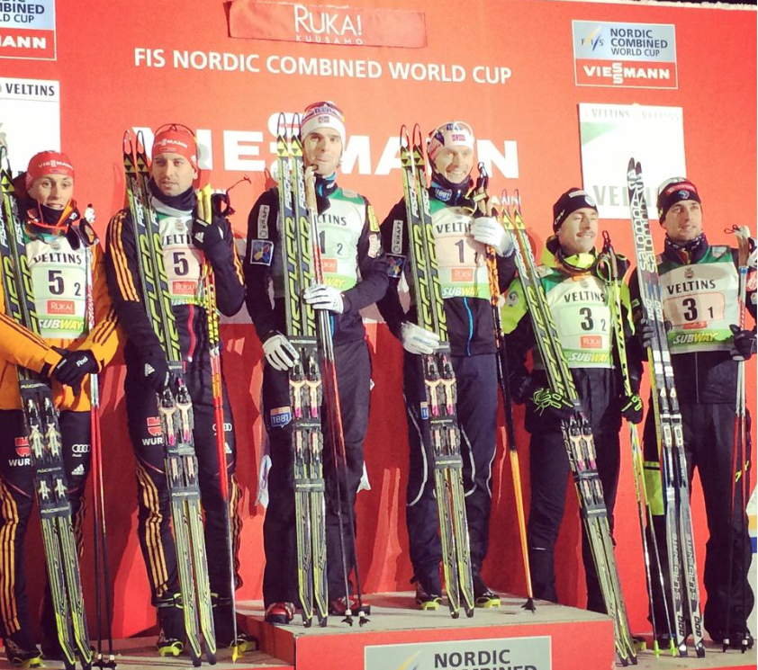 podium team sprint Ruka