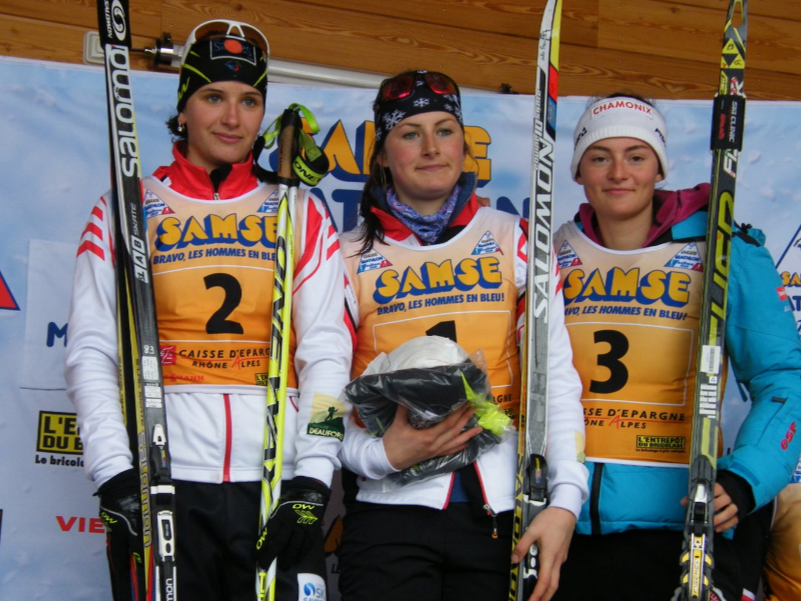 Le podium des juniors dames.