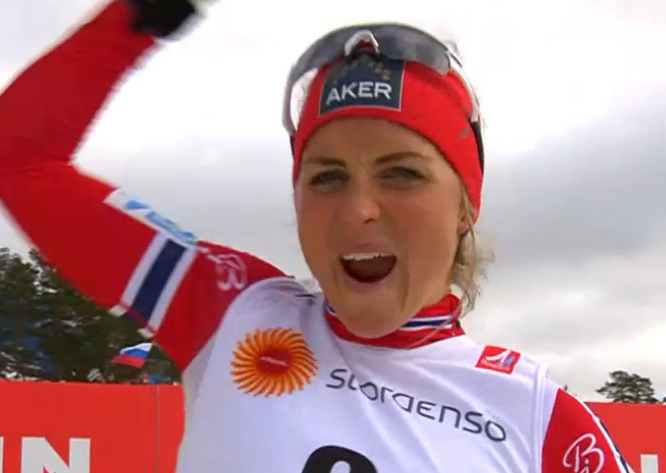 Therese Johaug exulte !