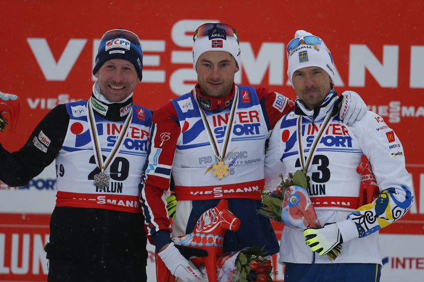 Respect entre Northug et Olsson (Photo : Agence Zoom)