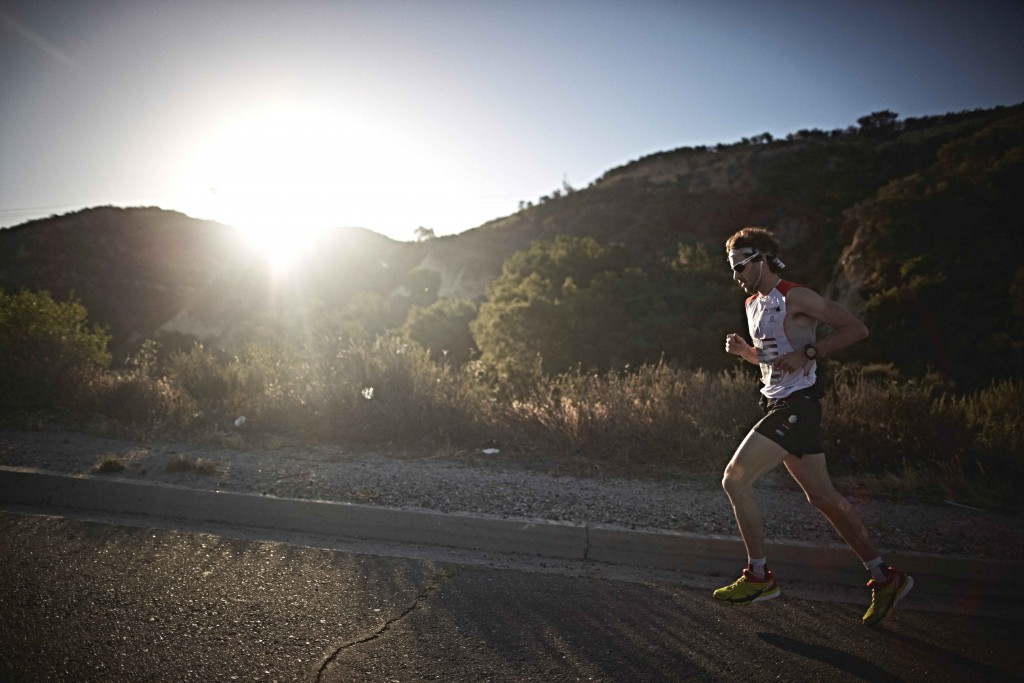 Thibault Baronian of France competes during the Wings for Life World Run in Santa Clarita, California, United States on May 3, 2015.