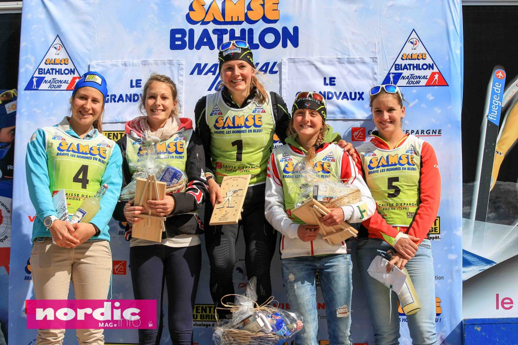 biathlon-podium dames U21