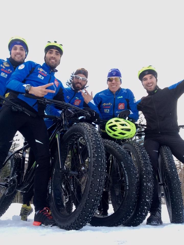 biathletes fatbike Canmore