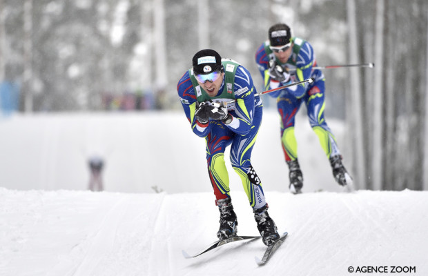 LAHTI, FINLAND - FEBRUARY 21: Maurice Manificat of France competes, Jean Marc Gaillard of France competes during the FIS Nordic World Cup Men's and Women's Cross Country Skiathlon on February 21, 2016 in Lahti, Finland. (Photo by Vianney Thibaut/Agence Zoom)