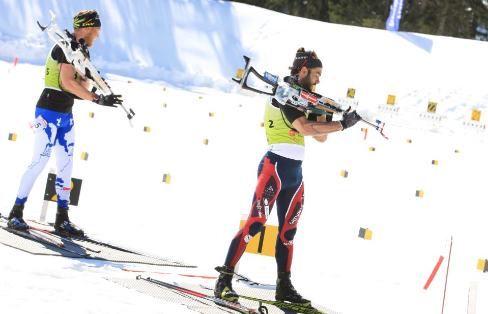 Simon Fourcade à Méribel.