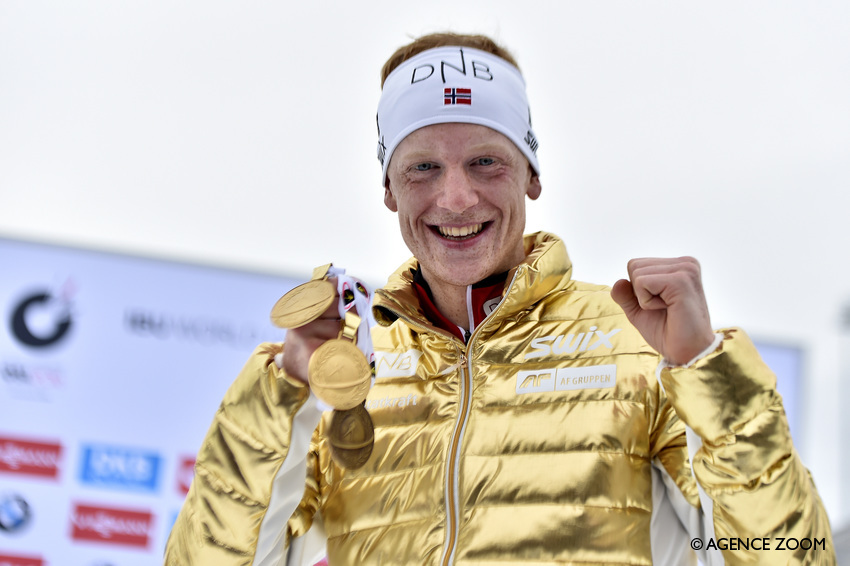 Johannes Thingnes Boe, champion du monde de la poursuite (Photos : Vianney Thibaut/Agence Zoom)