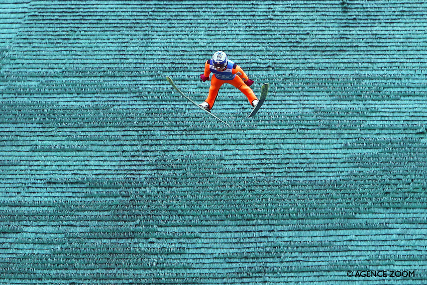 COURCHEVEL, FRANCE - JULY 16: Maciej Kot of Poland takes 1st place during the Finals of the FIS Grand Prix Ski Jumping 2016 on July 16, 2016 in Courchevel, France. (Photo by Alexis Boichard/Agence Zoom)