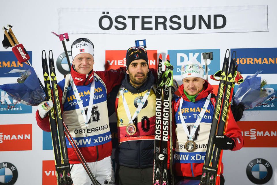 Ostersund podium Fourcade