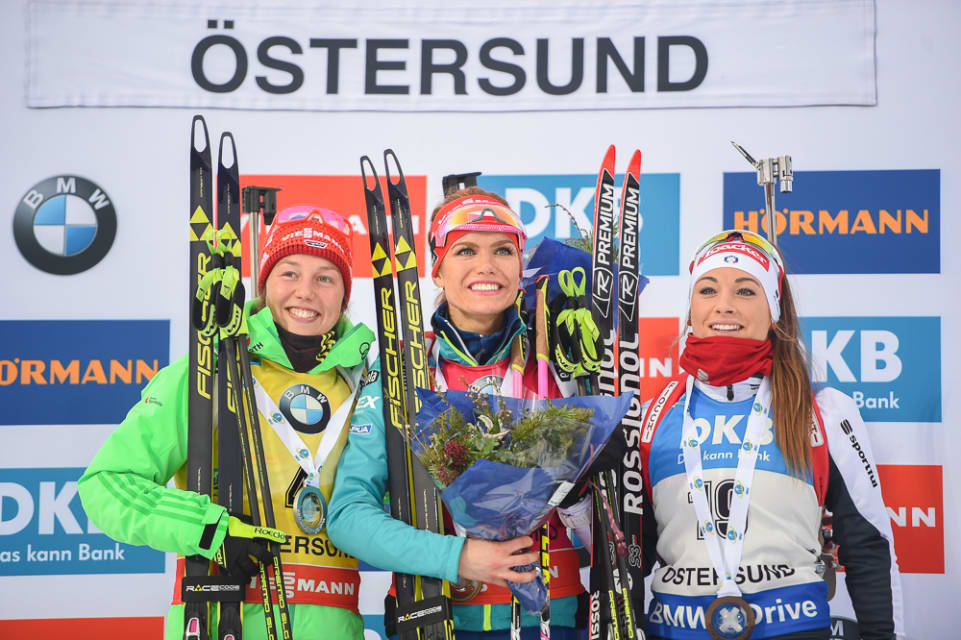 podium poursuite Ostersund