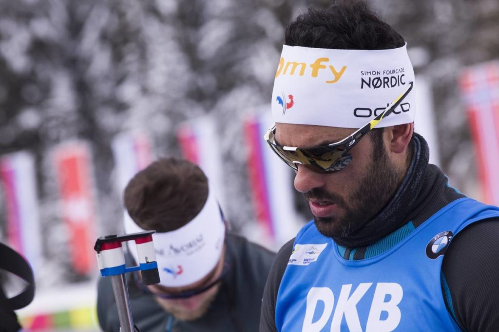 19.01.2018, Antholz, Italy (ITA): Simon Fourcade (FRA) -  IBU world cup biathlon, sprint men, Antholz (ITA). www.nordicfocus.com. © Manzoni/NordicFocus. Every downloaded picture is fee-liable.