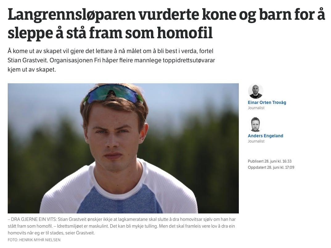 homosexualité, coming out, gay, Ski nordique, ski de fond, biathlon, saut à ski, combiné nordique, été, hiver, Norvège, sprint, rollerski, Nordic Magazine