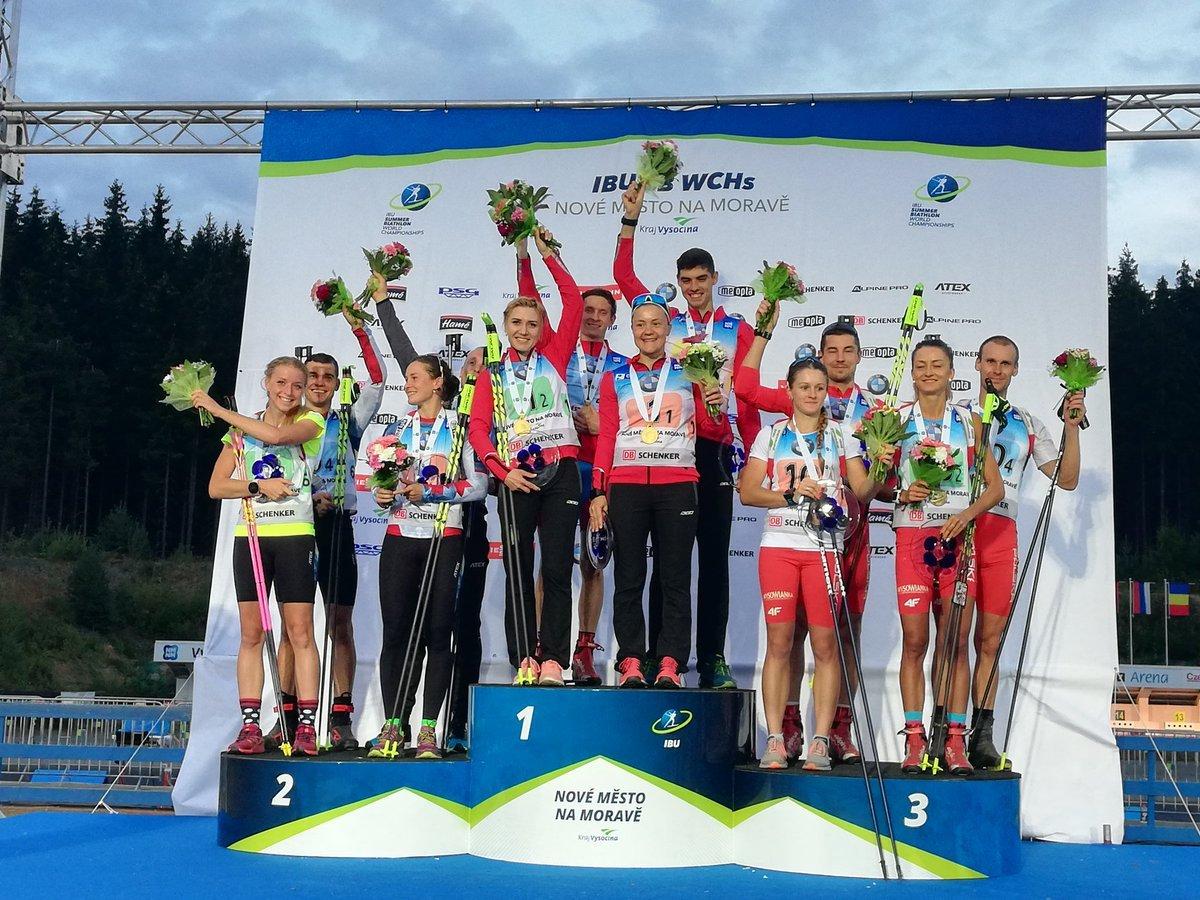 biathlon, Nove Mesto, championnats du monde, République Tchèque, Ekaterina Yurlova-Percht, Ondrej Moravec