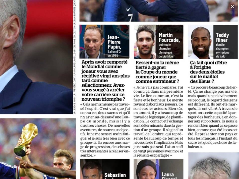Didier Deschamps, Martin Fourcade, Aujourd'hui en France, ski nordique, football