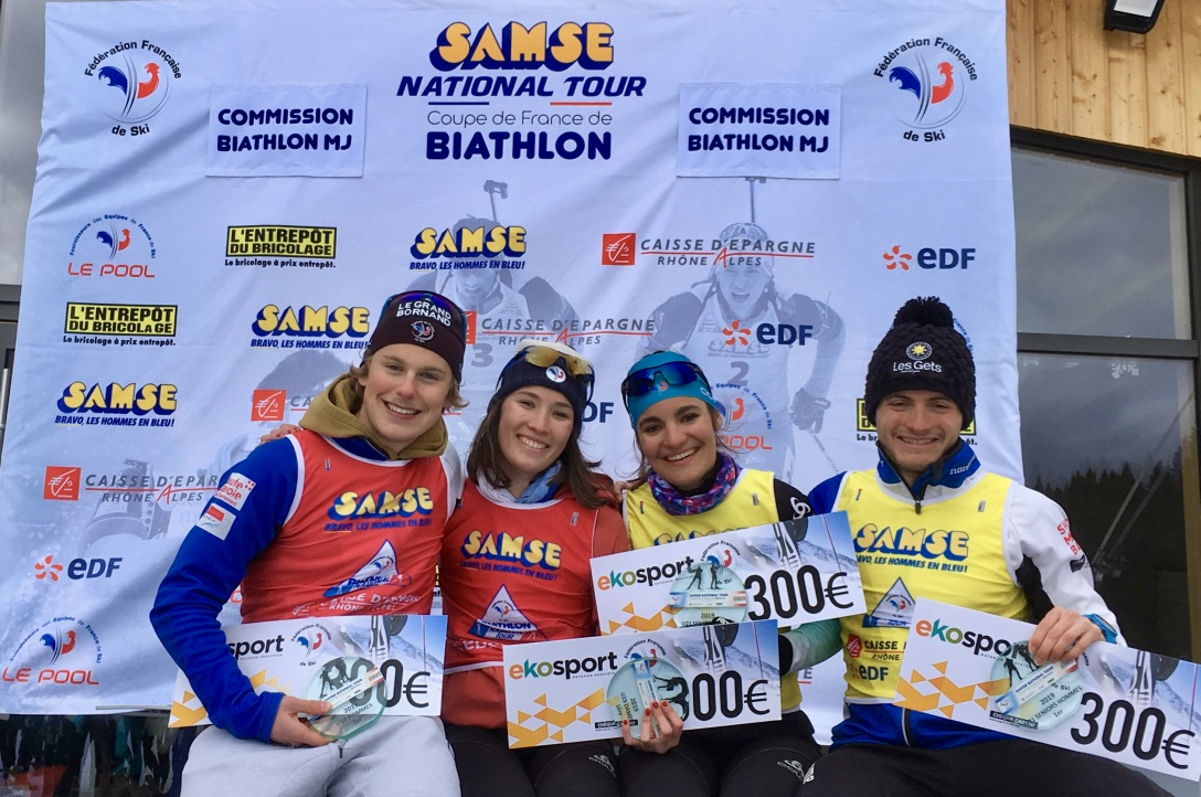 Sprint Hommes et Dames Coupe de France Samse Biathlon National Tour U19 / U21 / Seniors Sprint Hommes et Dames Championnat de France U17