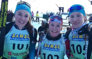 BIATHLON - Lou Anne Chevat (U21) et Camille Coupé (19) ont remporté la poursuite de biathlon à Bessans, à l'occasion de la coupe de France / Samse National Tour.
