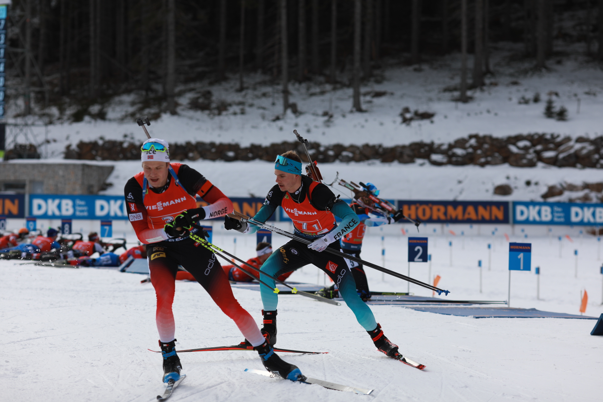une, biathlon, coupe du monde, Pokljuka, relais mixte simple