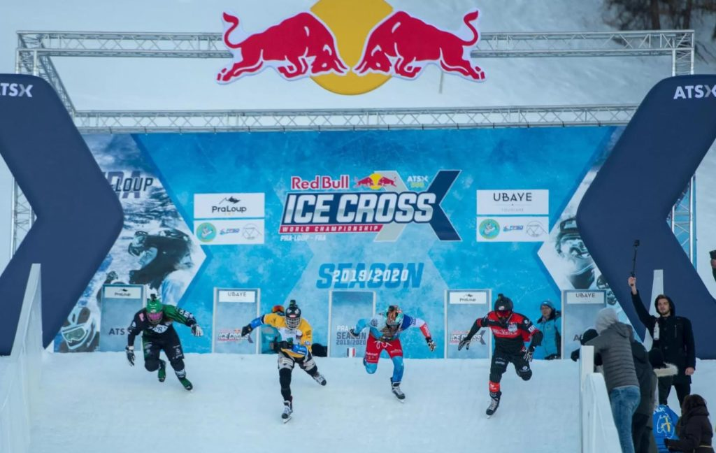 red bull ice cross, ice cross, Pra Loup