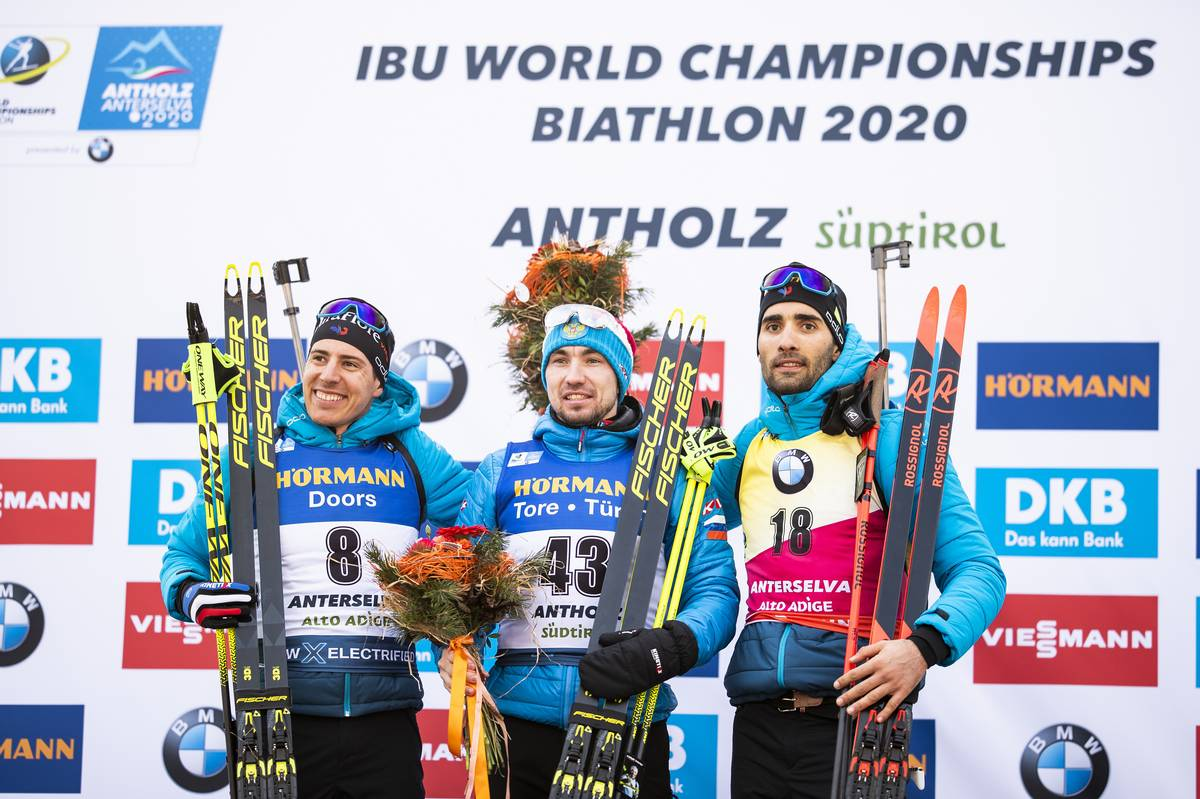 Fillon-Maillet, Fourcade, Loginov, Antholz, biathlon