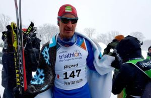 Stéphane Ricard, raquettes, Winter triathlon, pentathlon des Neiges