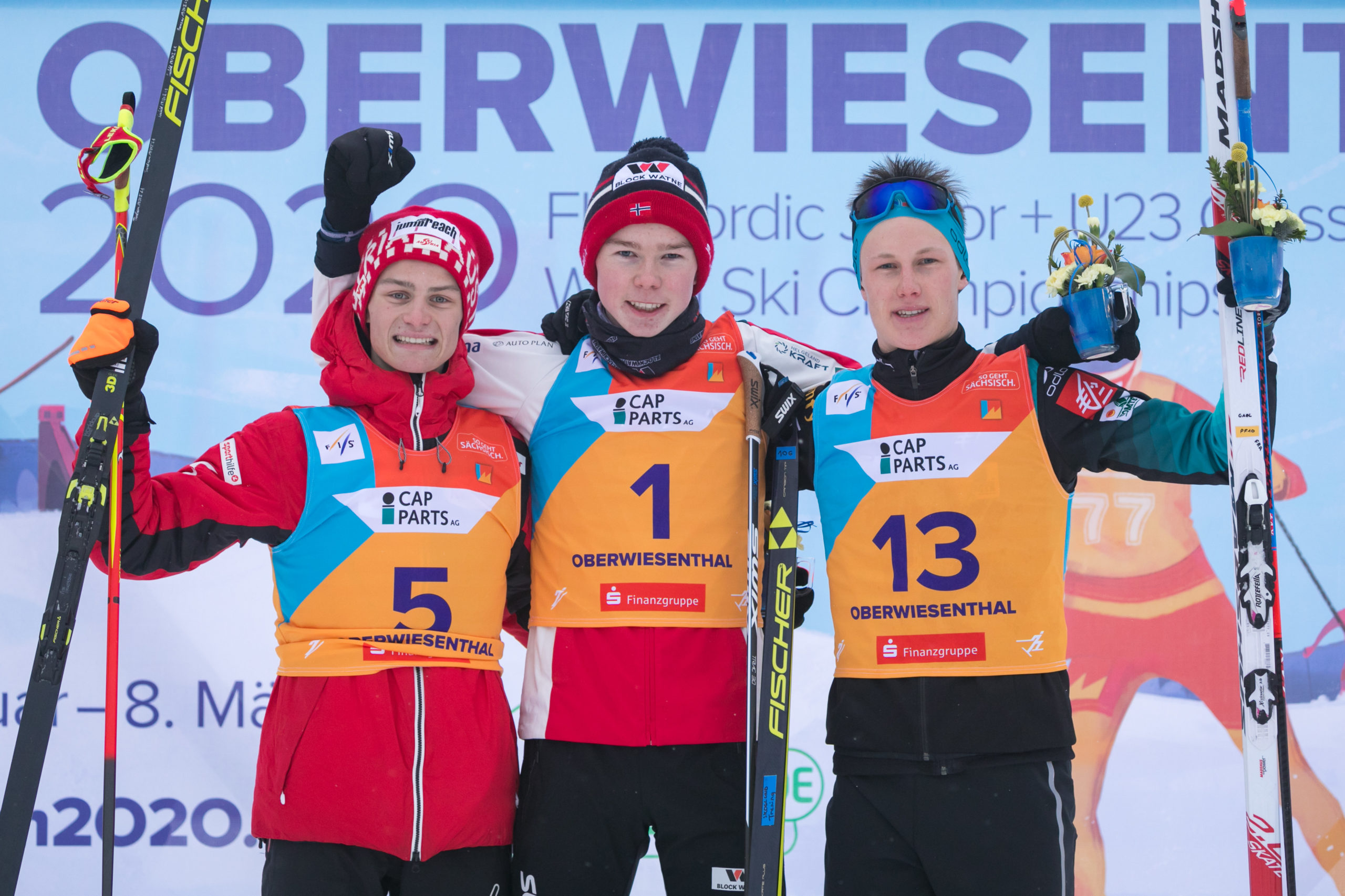 Johannes Lamparter, Gaël Blondeau, Jens Luraas Oftebro,combiné nordique, Oberwiesenthal
