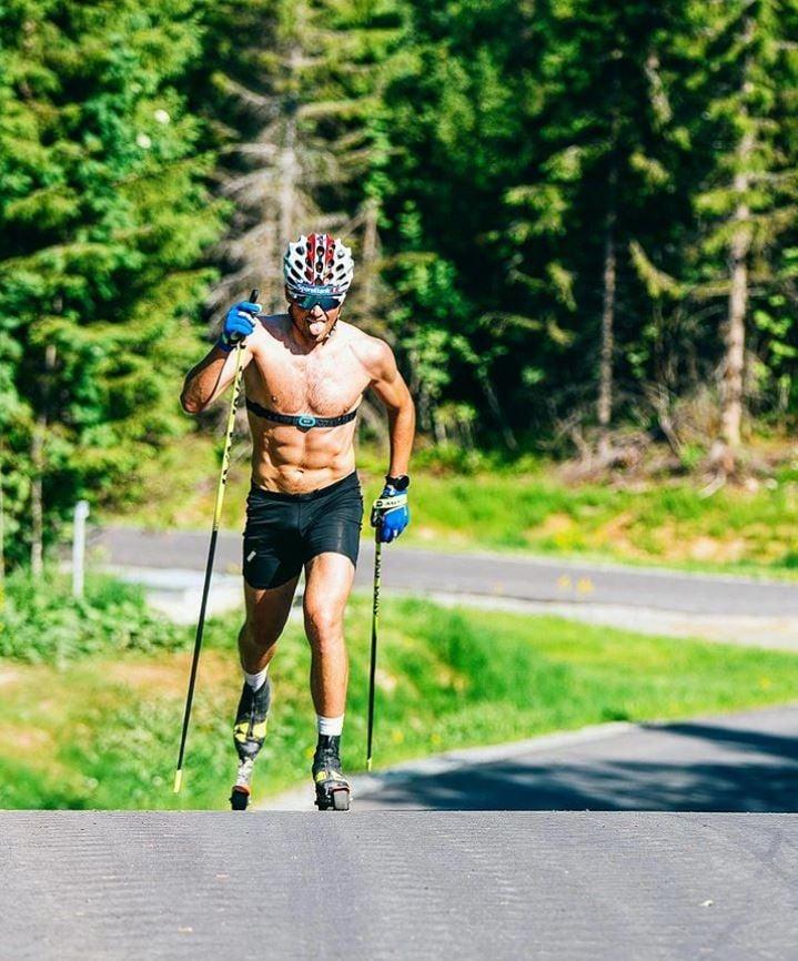 Emil Iversen, ski de fond, rollerski, ski-roues