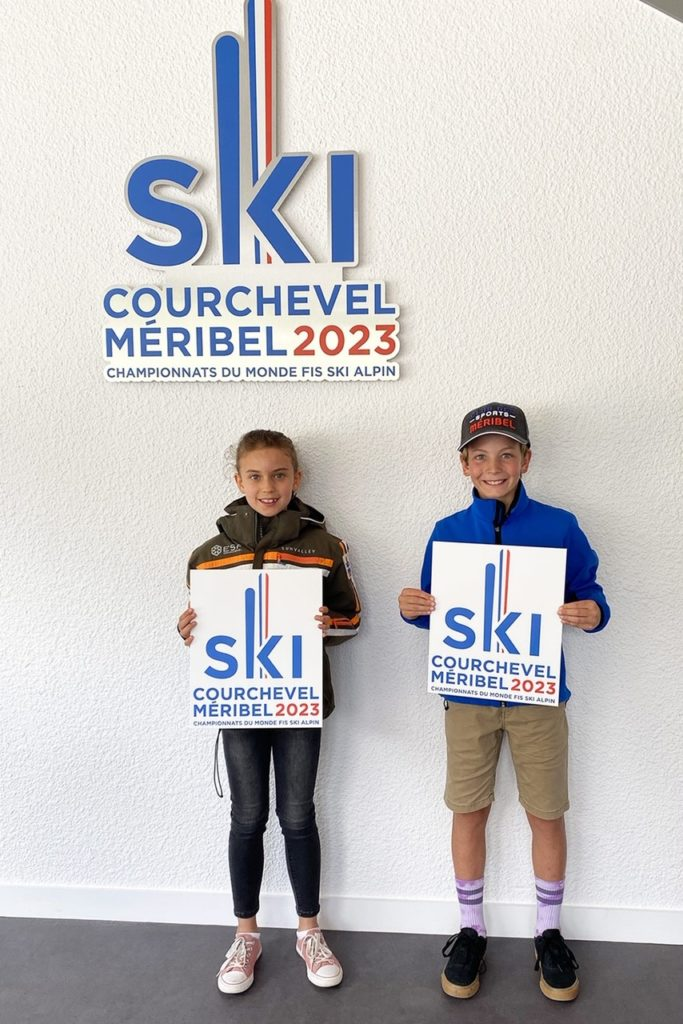 Méribel Courchevel 2023, ski alpin, logo