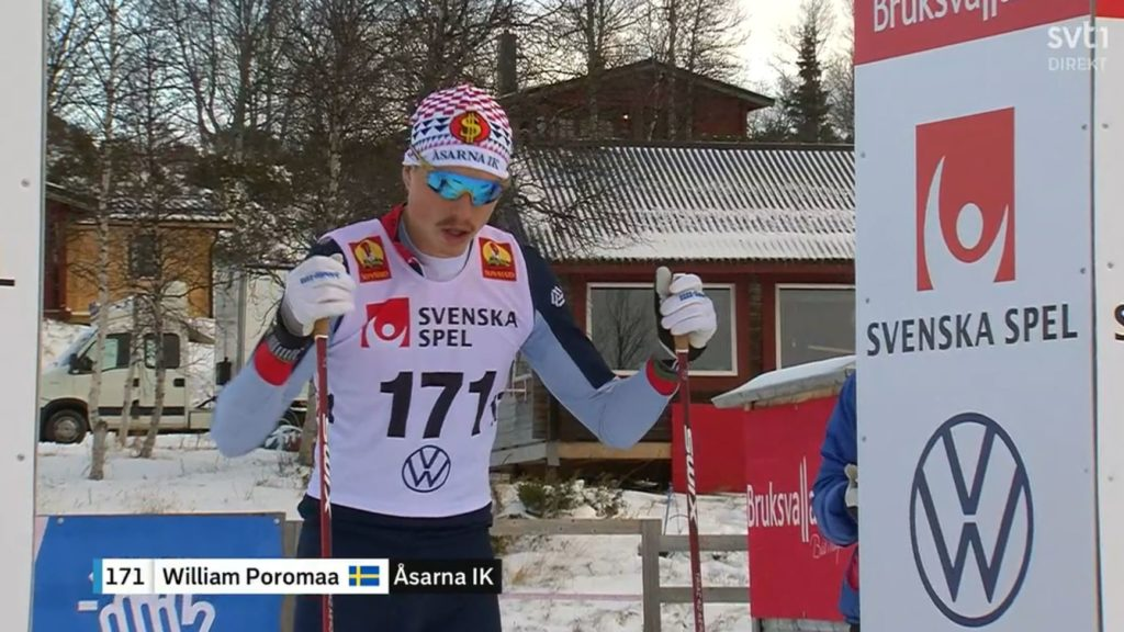 William Poromaa, ski de fond, Burksvallarna