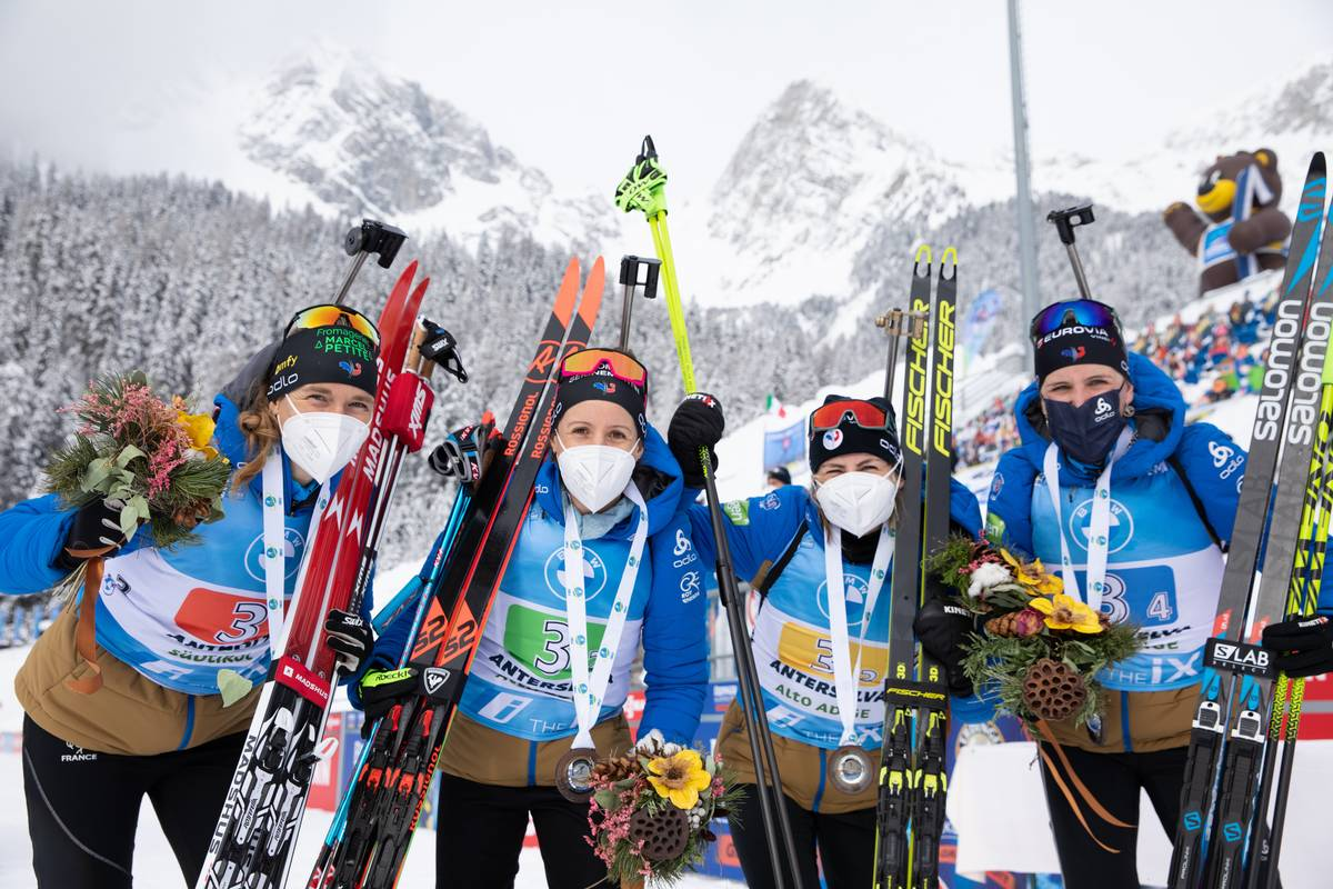 Anaïs Bescond, Anaïs Chevalier, Julia SImon, Justine Braisaz, biathlon, Antholz