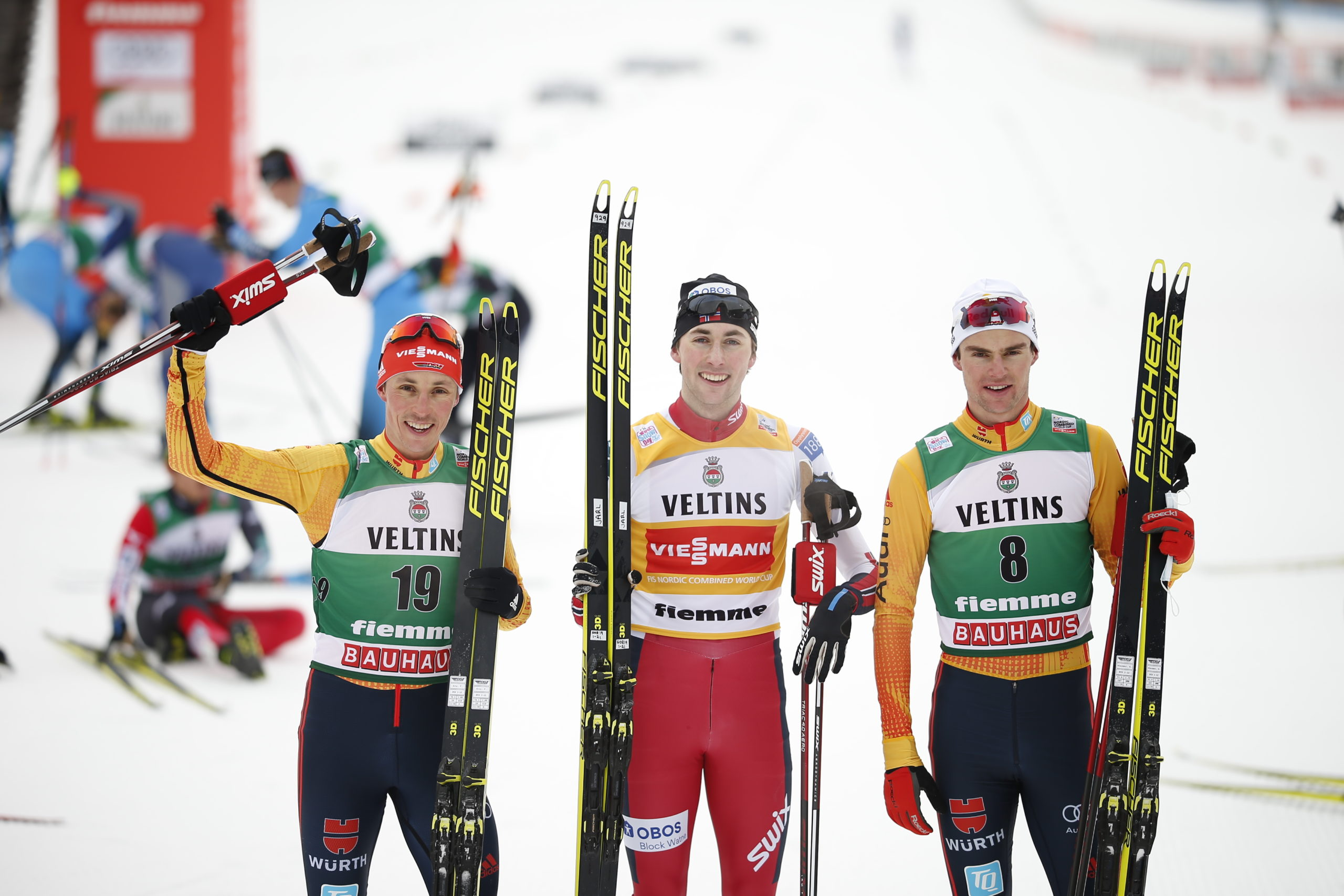 Eric Frenzel (ALL) - Jarl Magnus Riiber (NOR) - Vinzenz Geiger (ALL) - Nordic Focus