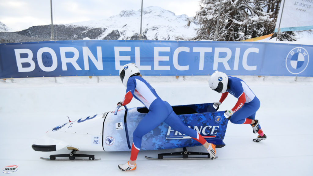 Sandie Clair, Margot Boch, bobsleigh, St. Moritz