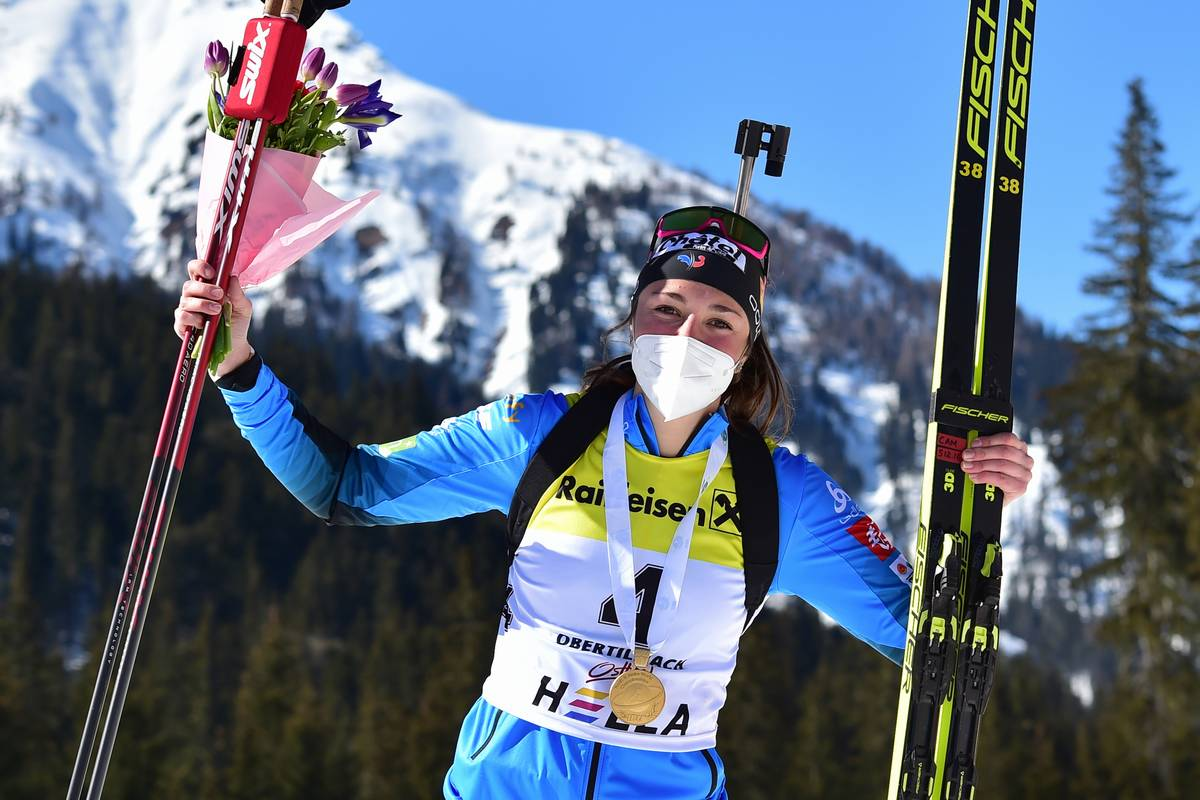 Camille Bened, Obertilliach, biathlon