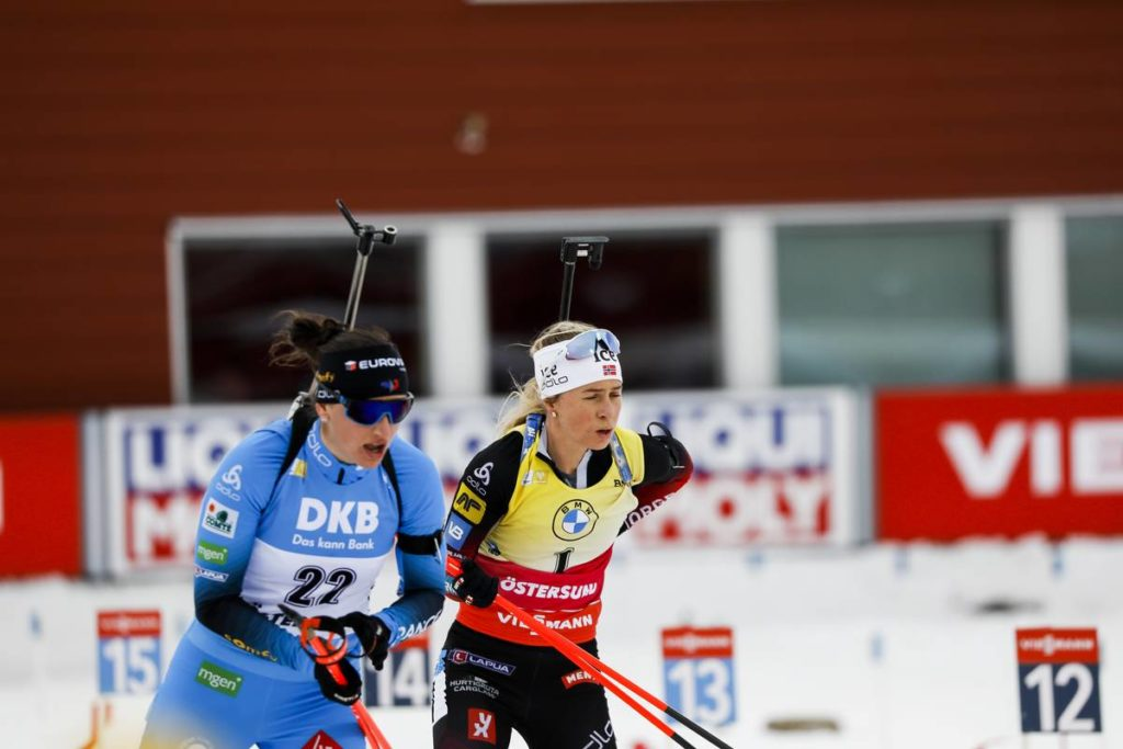 Julia Simon, Tiril Eckhoff, biathlon, Östersund