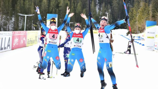 Maya Cloetens, Jeanne Richard, Fany Bertrand, Obertilliach, biathlon